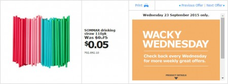 IKEA - Calgary Wacky Wednesday Deal of the Day (Sept 23) B
