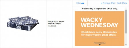 IKEA - Calgary Wacky Wednesday Deal of the Day (Sept 9) A