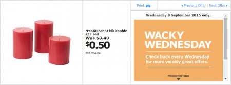 IKEA - Calgary Wacky Wednesday Deal of the Day (Sept 9) B