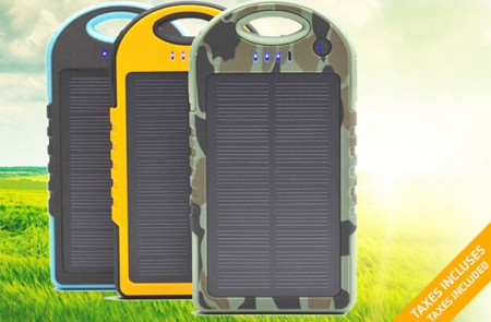 Portable Solar Panel 5000 mAh Power Bank Package