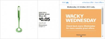 IKEA - Calgary Wacky Wednesday Deal of the Day (Oct 14) A