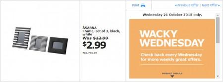 IKEA - Calgary Wacky Wednesday Deal of the Day (Oct 21)
