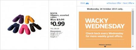 IKEA - Calgary Wacky Wednesday Deal of the Day (Oct 28)