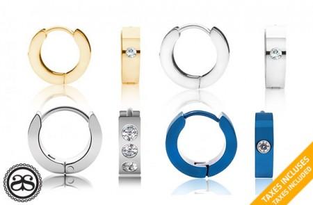 stainless steel Huggies Hoop Earrings