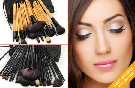 24 makeup brush set