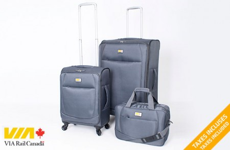3-piece ultra lightweight luggage set