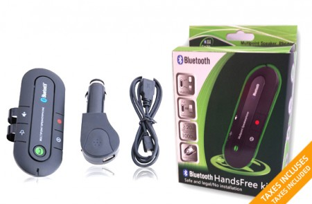 Bluetooth hands-free speakerphone car kit