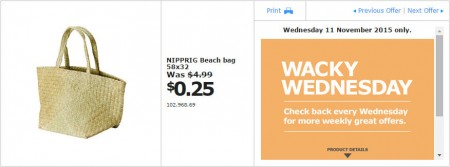 IKEA - Calgary Wacky Wednesday Deal of the Day (Nov 11) B