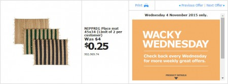 IKEA - Calgary Wacky Wednesday Deal of the Day (Nov 4) A