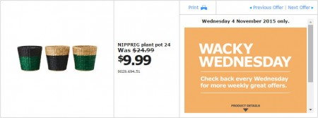 IKEA - Calgary Wacky Wednesday Deal of the Day (Nov 4) B