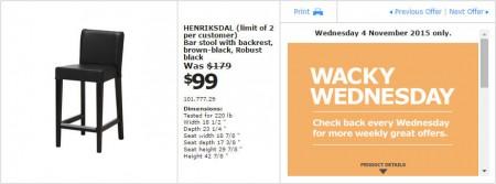 IKEA - Calgary Wacky Wednesday Deal of the Day (Nov 4) C