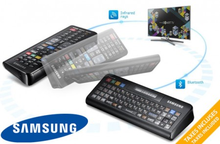 2 in 1 QWERTY remote control