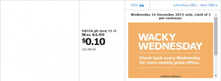 IKEA - Calgary Wacky Wednesday Deal of the Day (Dec 16) B