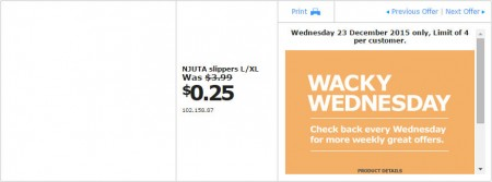IKEA - Calgary Wacky Wednesday Deal of the Day (Dec 23) A