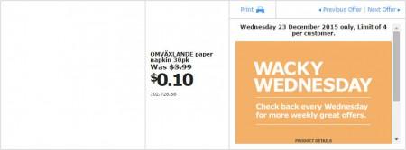 IKEA - Calgary Wacky Wednesday Deal of the Day (Dec 23) C