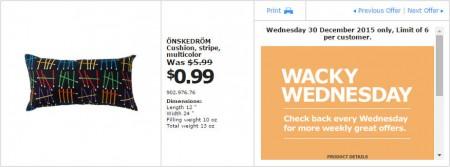 IKEA - Calgary Wacky Wednesday Deal of the Day (Dec 30) A