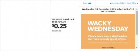 IKEA - Calgary Wacky Wednesday Deal of the Day (Dec 30) C