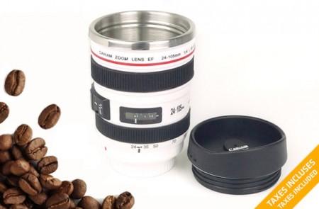 camera lens mug