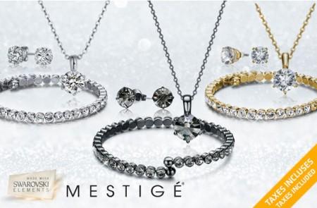 luxurious 3-piece crystal jewelry set