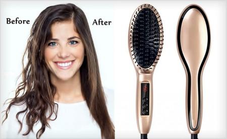 Ceramic Hair Straightening Styling Brush
