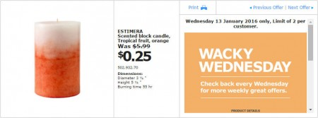IKEA - Calgary Wacky Wednesday Deal of the Day (Jan 13) B
