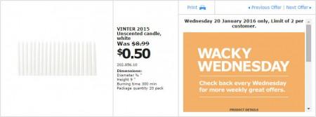 IKEA - Calgary Wacky Wednesday Deal of the Day (Jan 20) C