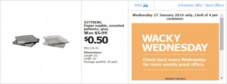 IKEA - Calgary Wacky Wednesday Deal of the Day (Jan 27) A