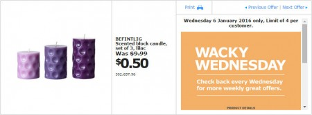 IKEA - Calgary Wacky Wednesday Deal of the Day (Jan 6) A