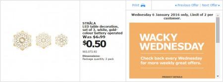 IKEA - Calgary Wacky Wednesday Deal of the Day (Jan 6) B