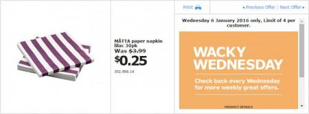 IKEA - Calgary Wacky Wednesday Deal of the Day (Jan 6) C