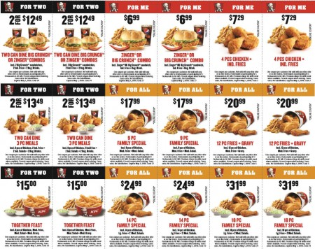 KFC Download New Savings Coupons (Until Apr 24 or May 1)