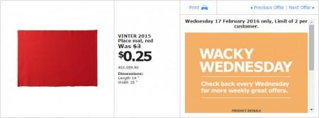 IKEA - Calgary Wacky Wednesday Deal of the Day (Feb 17) A