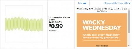 IKEA - Calgary Wacky Wednesday Deal of the Day (Feb 17) B