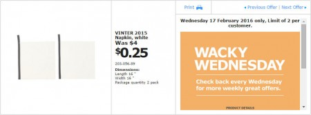 IKEA - Calgary Wacky Wednesday Deal of the Day (Feb 17) C