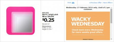 IKEA - Calgary Wacky Wednesday Deal of the Day (Feb 17) D