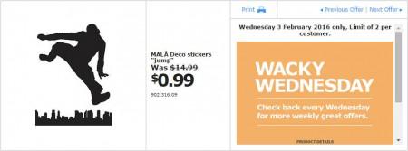 IKEA - Calgary Wacky Wednesday Deal of the Day (Feb 3) B