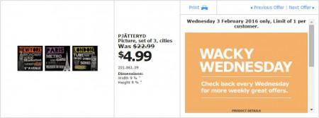 IKEA - Calgary Wacky Wednesday Deal of the Day (Feb 3) C