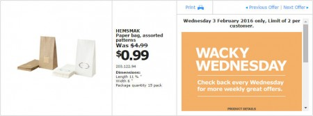 IKEA - Calgary Wacky Wednesday Deal of the Day (Feb 3) D