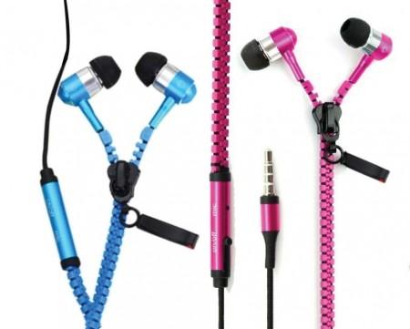 Metal Zipper Earphones