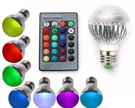 Remote Operated LED Bulb