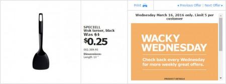 IKEA - Calgary Wacky Wednesday Deal of the Day (Mar 16) A