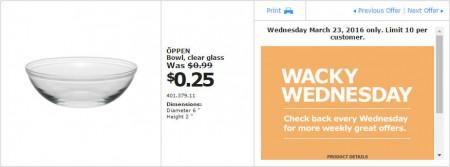 IKEA - Calgary Wacky Wednesday Deal of the Day (Mar 23) A