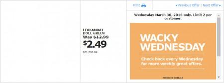 IKEA - Calgary Wacky Wednesday Deal of the Day (Mar 30) A