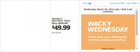 IKEA - Calgary Wacky Wednesday Deal of the Day (Mar 30) B