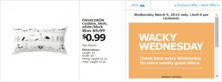 IKEA - Calgary Wacky Wednesday Deal of the Day (Mar 9) A