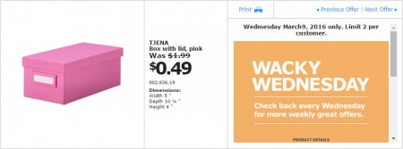 IKEA - Calgary Wacky Wednesday Deal of the Day (Mar 9) B
