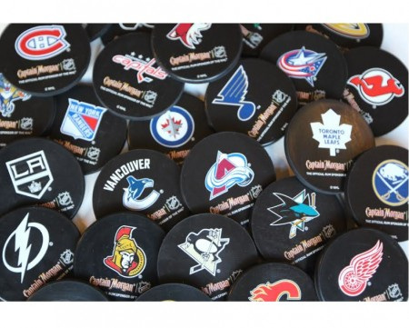 NHL Team Puck Coasters