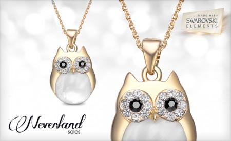 Professor Owl Charm Necklace