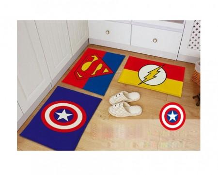Superhero Themed Floor Mat