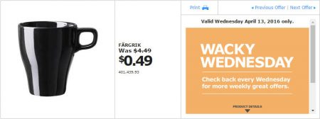 IKEA - Calgary Wacky Wednesday Deal of the Day (Apr 13) B
